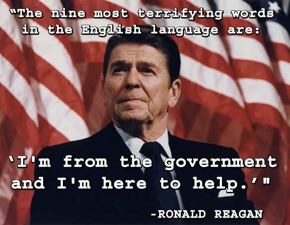 reagan - the nine most terrifying words