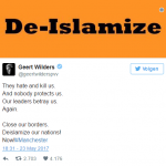 Wilders tweet CENSORED in Germany