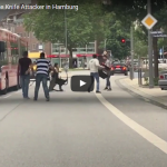 Video: Bystanders tackle islamic terrorist refugee with machete in Hamburg