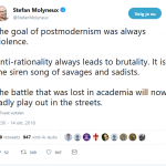 'The goal of postmodernism was always violence'
