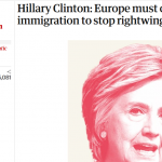 Hillary Clinton: EU establishment should close the borders to avoid losing elections
