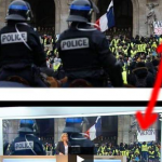 French national news channel manipulated footage to edit a protester's sign