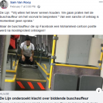Belgium: man fired by bus company for posting Muhammed cartoon, driver stopping bus to pray is not